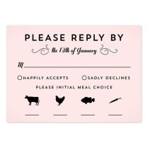 Sand Dollar Starfish Rsvp Card With Meal Choice Rsvp Starfish And