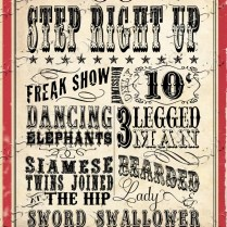 Vintage Circus Carnival Posters Signs