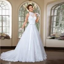 Sexy Halter Neck Sleeveless New Designed 2 Pieces Bridal Dress