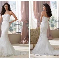 Strapless Lace Appliques Mermaid Wedding Dresses 2452228