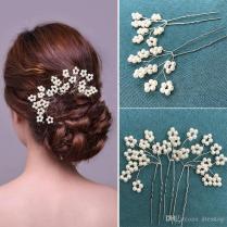 Vintage Pearls Wedding Hair Accessories Flower Wedding Church