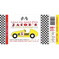 Vintage Race Car Birthday Party Printable Invitation