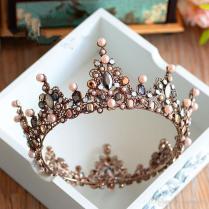 2019 Vintage Wedding Bridal Crystal Tiaras Crowns Full Round Crown
