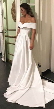 42 Off The Shoulder Wedding Dresses To See