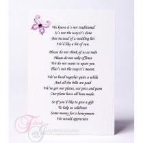Wedding Invitation Wording Money Instead Of Gifts