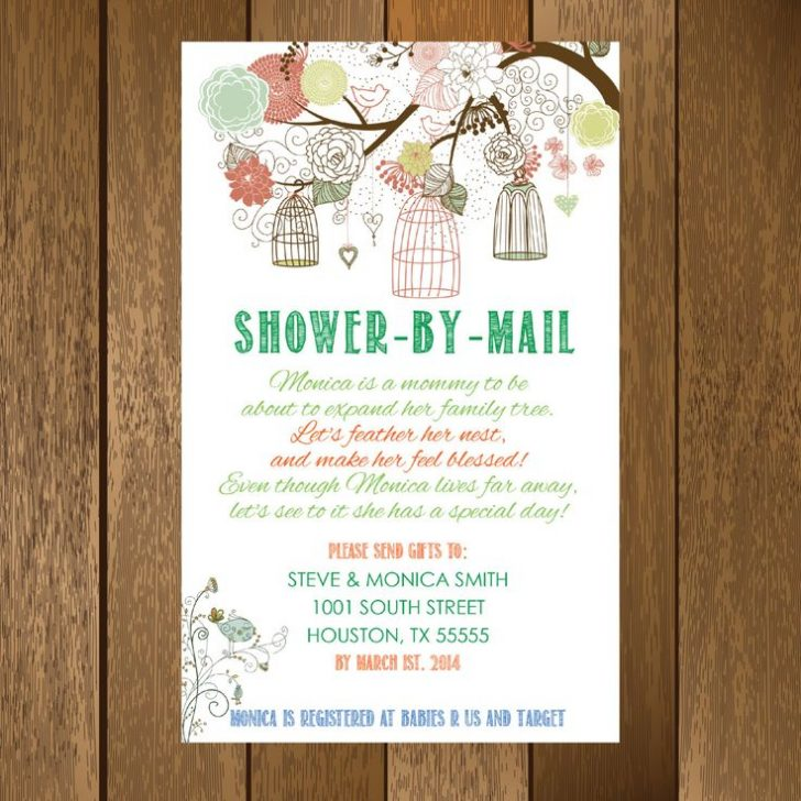 Baby Shower By Mail Invitation Wording