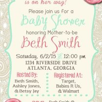 Little Princess Vintage Baby Shower Invitation, Pink And Mint With