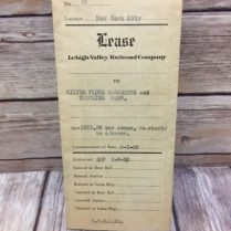 1930 Lehigh Valley Railroad Company Lease Truck Rental Agreement