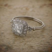 Asscher Cut Engagement Ring Vintage Style
