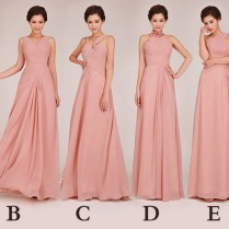 New Cheap Wedding Dresses Blush Colored Bridesmaid Dresses