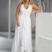2016 Beach Plus Size Wedding Dresses Cheap V Neck Halter Wedding