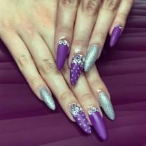 48 Purple And Silver Nail Designs, Purple And Silver Nail Art Nail
