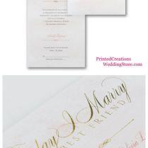 Shining Celebration Seal 'n Send Wedding Invitation