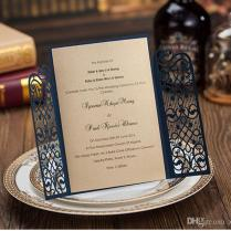 Traditional Lace Wedding Invitation Card Various Colors Wedding