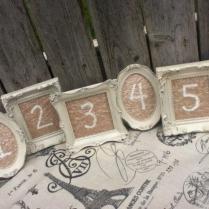 5 Vintage Style Table Numbers