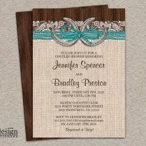 Country Western Horseshoe Wedding Shower Invitation