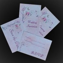 Cheap Diy Non Personalised Wedding Invitation Sets Printed On A6