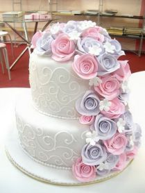 Vintage Two Tiered Wedding Cakes