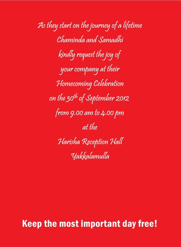 Homecoming Invitation Wordings