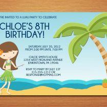 Beach Party Invitation Wording Ideas Birthday Party Invitations