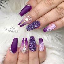 Best 25 Purple Nail Designs Ideas On Emasscraft Org Purple, Nail Art
