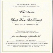 Best Witty Wedding Invitations 15 Funny Wedding Invitations Cards