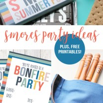 How To Host A Smores Party ( Free Bonfire Invitation