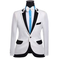Brand Mens Prom Tuxedo Suits With Pants 2016 Fashion Design White