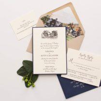 Virginia & Kevin's Custom Wedding Invitations • Staccato