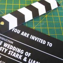 Clapper Board Wedding Invite – Robharvey76