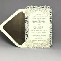 Ribbon Corners Wedding Invitation Ribbon Corners Invitation With