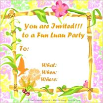 Tropical Delight Party Invitations In Mango East Six Luau Theme