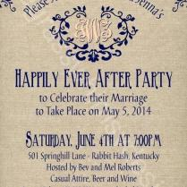 Elopement Reception Invitations Party Invitation Template