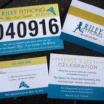 Turquoise & Yellow Running Girl & Shoes Race Bib Bat Mitzvah