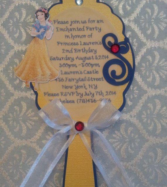 Snow White Mirror Invitation