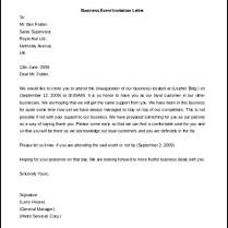 Formal Invitation Letter Sample Business 8 – Platte Sunga Zette