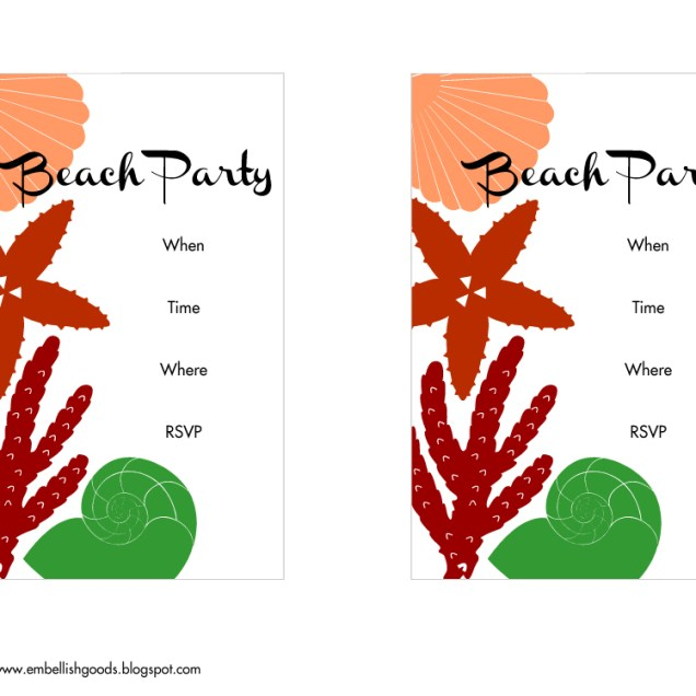 Free Summer Party Printables From Embellish