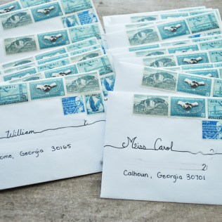 Of The Fountain Vintage Postage For Wedding Invitations