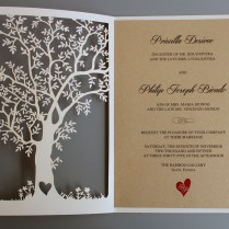 Laser Cut Tree Wedding Invitations Laser Cut Tree Wedding