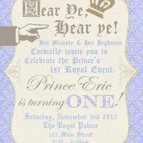 Royal Birthday Party Invitations Great Prince Birthday Party