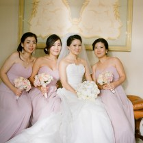 Long Blush Colored Bridesmaids Dresses