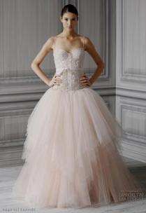 Monique Lhuillier Blush Wedding Dresses Naf Dresses