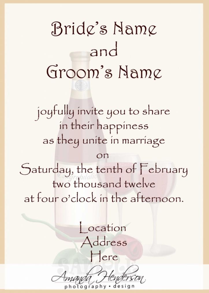Personal Invitation Wordings For Wedding