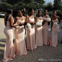 Nice South African Bridesmaid Dresses Satin Mermaid Wedding Guest