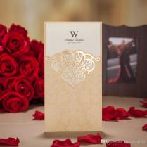 New Laser Cut Hollow Flower Wedding Invitations Cards High Quality