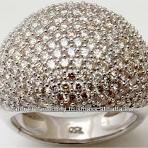 Rich Diamonds Heavy Design White Gold Ring,royal Gold Jewelry With