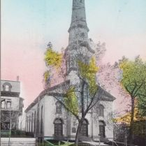 Vintage Hudson Valley Tinted Postcard — First Baptist Church