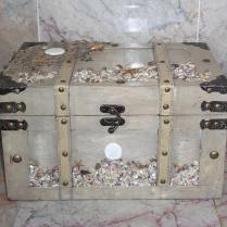 Wedding Card Holder Box Beach Seaside Chest Rustic Wood Trunk