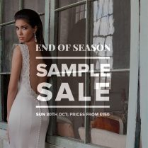 Designer Wedding Dress Sample Sale October 2016