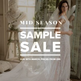 Designer Wedding Dress Sample Sale March 2018